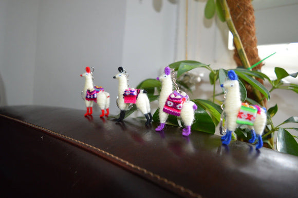 3 Alpaca Key ring, Llama key chain, Llama ornament, Chiristmas stockings, Chiristmas stuffers, party fillers, Party favours