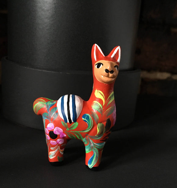 Llama  Ornament, Hand painted ceramic alpaca, Llama ornament perfect for birthday or Christmas present