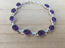 Load image into Gallery viewer, Amethyst Sterling Silver Bracelet Oval