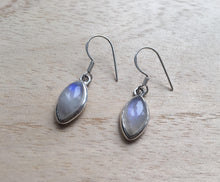 Load image into Gallery viewer, Moonstone silver earrings Almond