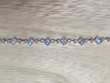 Load image into Gallery viewer, Moonstone sterling silver bracelet Diamond shape