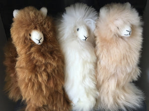 Llama toy Ornament, Llama figure ornament perfect for birthday or Christmas present made of alpaca wool fur
