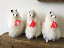 Load image into Gallery viewer, Llama Toy/Ornament, Alpaca ornament perfect for birthday or Christmas present made of alpaca wool fur