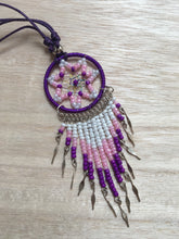 Load image into Gallery viewer, Dreamcatcher Necklace, Dreamcatcher necklace, Indian Dreamcatcher, Girl necklace, Teeneger gift, Girl gift