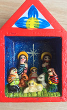 Load image into Gallery viewer, Nativity Scene, Nativity Set, Miniature nativity , Retablos