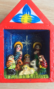 Nativity Scene, Nativity Set, Miniature nativity , Retablos
