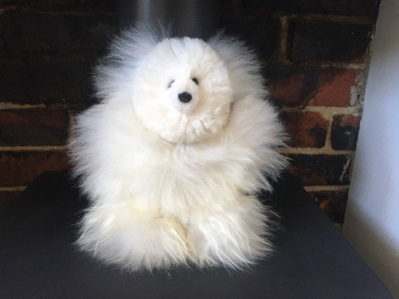 Alpaca fur Teddy bear, Cuddly Teddy Bear, Softest ever Teddy Bear, White Teddy bear, Alpaca fur Teddy Bear, Brown Teddy Bear