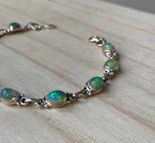 Load image into Gallery viewer, Ethiopian Opal sterling silver bracelet