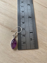 Load image into Gallery viewer, Amethyst sterling silver earrings Almond
