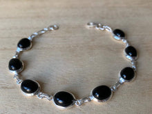Load image into Gallery viewer, Black Onyx Sterling Silver Bracelet