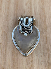 Load image into Gallery viewer, Moonstone silver pendant, Heart shaped  Rainbow Moonstone pendant, Moonstone, Moonstone necklace, Moonstone birthstone