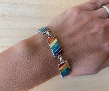 Load image into Gallery viewer, Pride silver bracelet