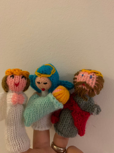 Nativity Set Finger Puppet , Nativity Finger Puppet, Mary Joseph and Baby Jesus Finger Puppets