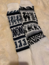 Load image into Gallery viewer, Alpaca socks with llama details