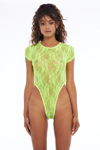 Baby Lace Bodysuit Yellow Kiwi