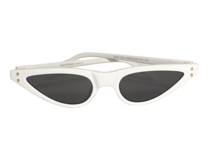 Micro Cat Eye Sunglasses White