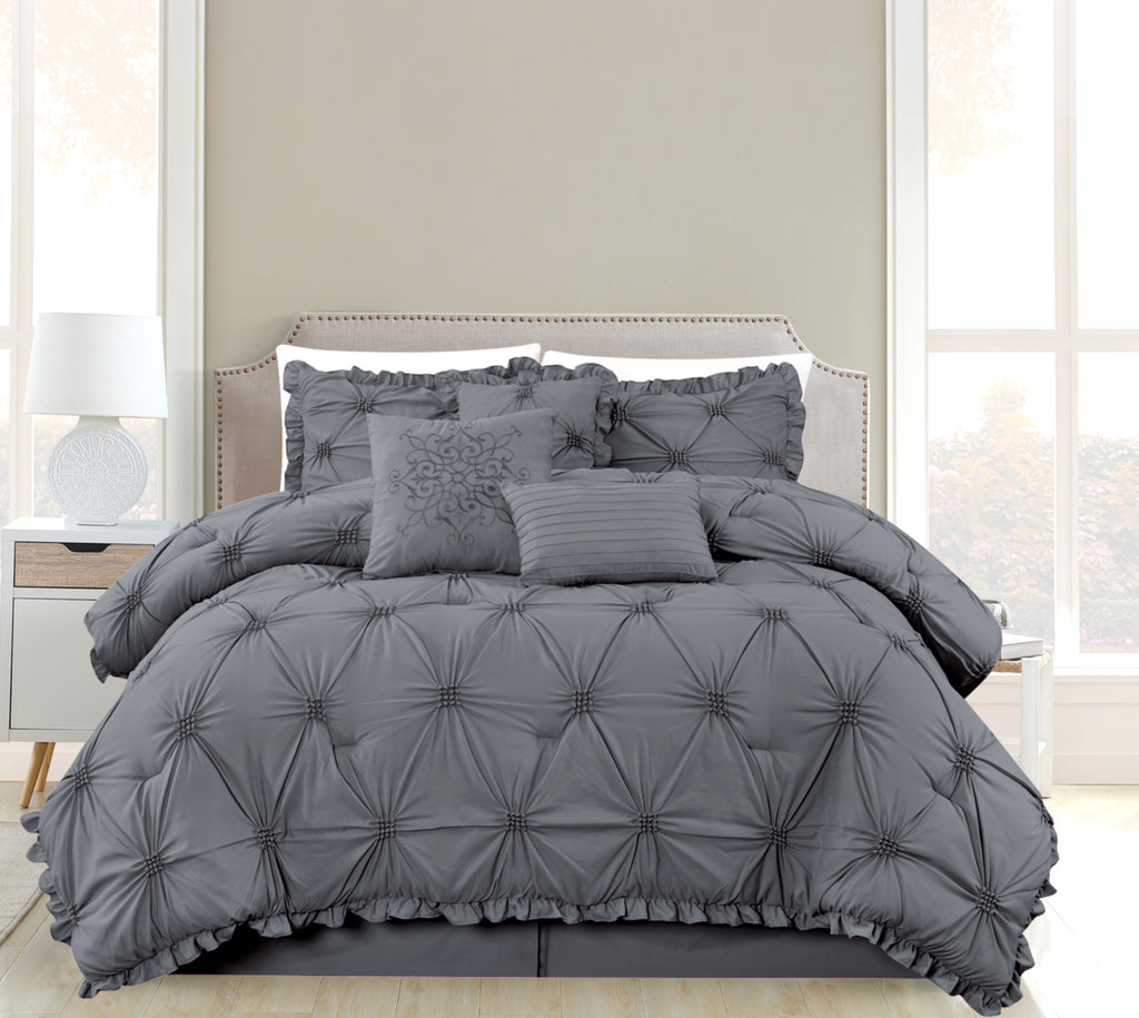 100/% Polyester Bed in a Bag 6 Pieces Premium Comforter Set