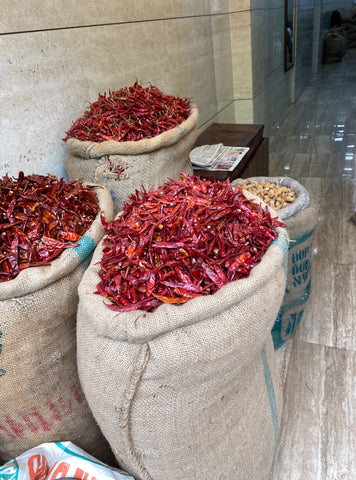 Chillies at Delhi Spice Market