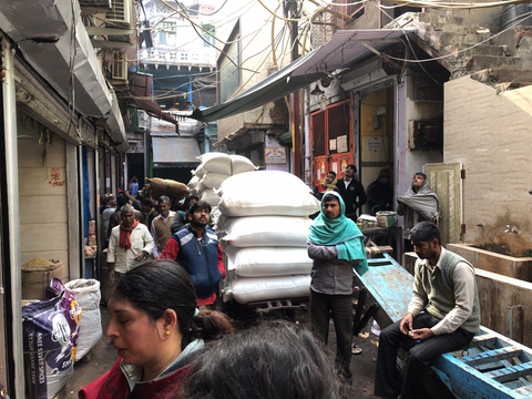 Heavy loads at Delhi Spice Market