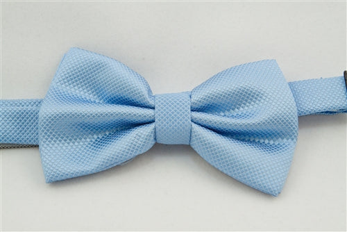 Light Blue & White Patterned (Bow Tie)