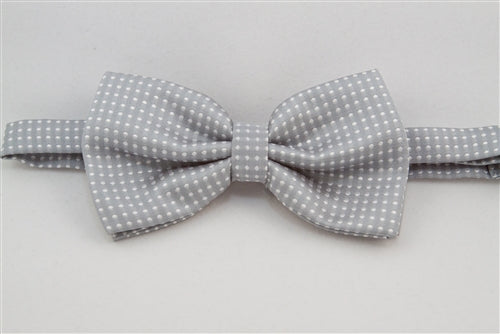 Light Gray with White Dots (Bow Tie)