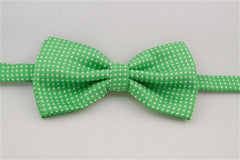 Bright Green with White Dots (Bow Tie)