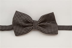 Black with White Dots (Bow Tie)