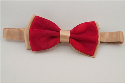 Solid Red with Gold Back (Bow Tie)