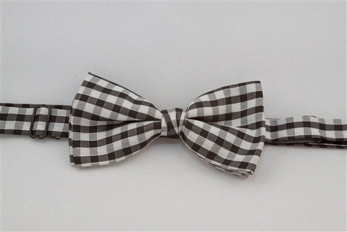 Black & White Checkered with Silver Lines (Bow Tie)