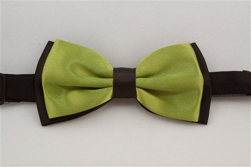 Solid, Pistachio Green with Black Back (Bow Tie)