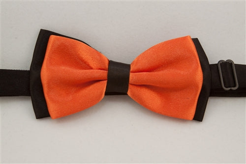 Solid, Bright Orange with Black Back (Bow Tie)