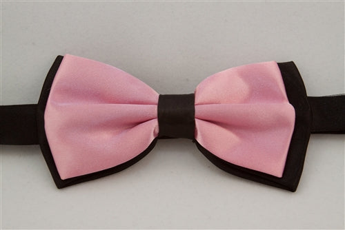 Solid Light Pink with Black Back (Bow Tie)