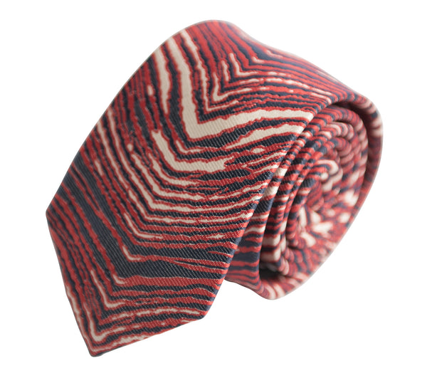 Red, White & Navy Blue Zubaz Tie