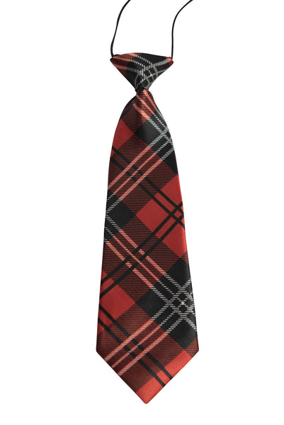Red, Black, White Tartan Plaid (Children's Tie)