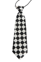 Black & White Diagonal Checked (Children's Tie)