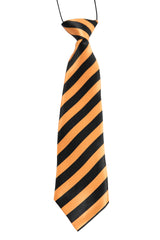 Orange & Black Diagonal Stripes (Children's Tie)
