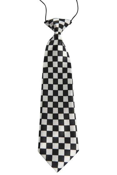 White & Black Checkerboard Pattern (Children's Tie)