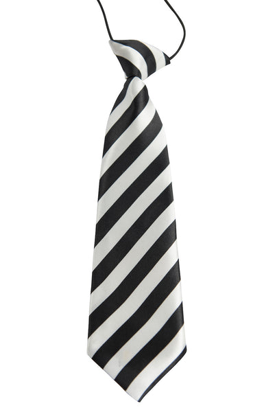 Black & White Diagonal Stripes (Children's Tie)