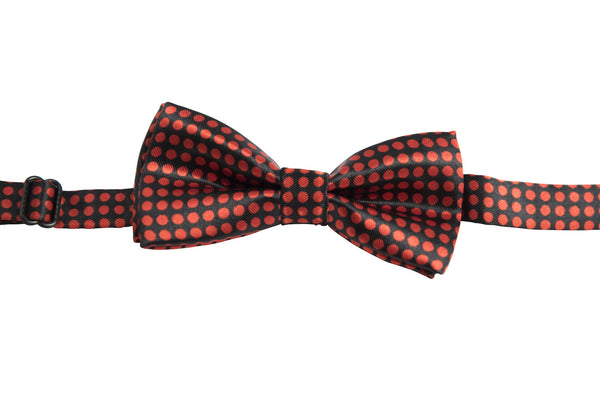 Black with Red Dots (Children's Bow Tie)