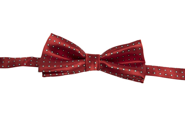 Red with Black & White Dots (Children's Bow Tie)