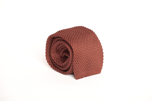 Solid Brown (Knit Tie)