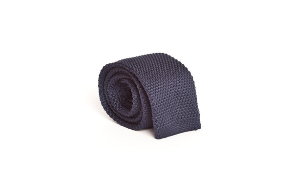 Solid Navy Blue (Knit Tie)