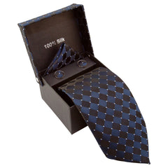 Dark Blue & Black Checkered with Silver Dots Specialty Box