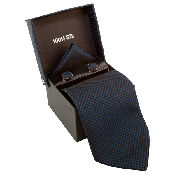 Dark Blue & Black Checkered Specialty Box
