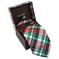 Green, White, Black, & Red Plaid Specialty Box