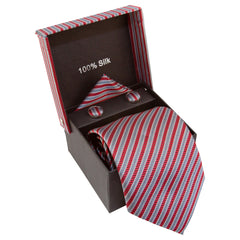 Red, Gray, & Silver Striped Specialty Box