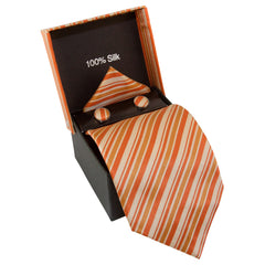 Orange, Tan, & Gold Striped Specialty Box