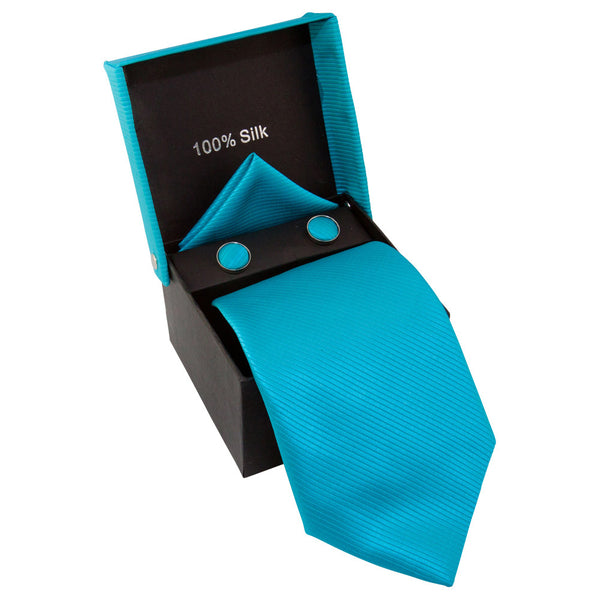 Solid Turquoise with Stripes Specialty Box