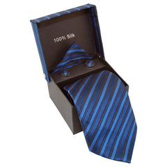 Blue, Light Blue, & Black Striped Specialty Box