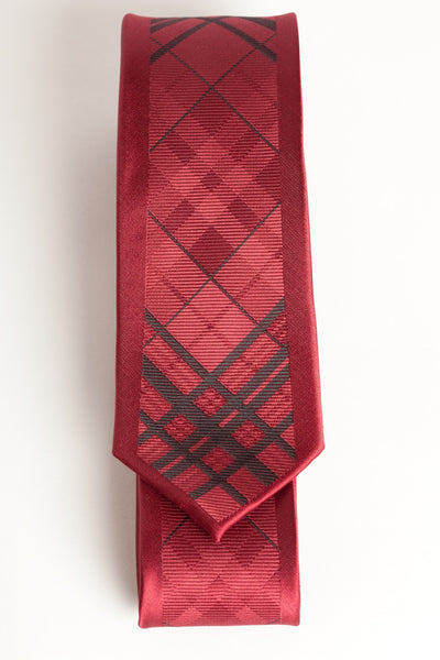 Red & Black Argyle (Skinny Tie)